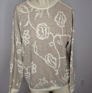 Vintage - floral sweater